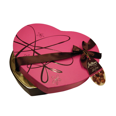 Lily chocolate box made of paper (HEART SHAPE)