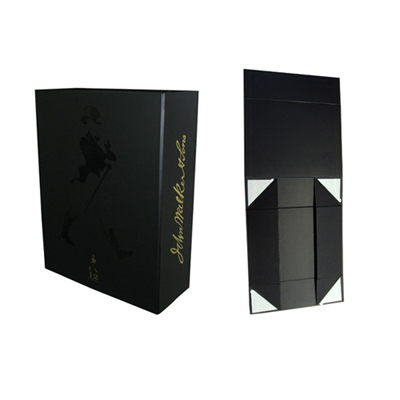 Bespoke collapsible wine gift boxes wholesale Johnie Walker Black label |