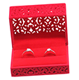 personalized double ring jewelry packaging gift boxes |