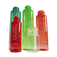 Custom eco friendly cosmetic product packaging bottles made of biodegradable and compostable bioplas