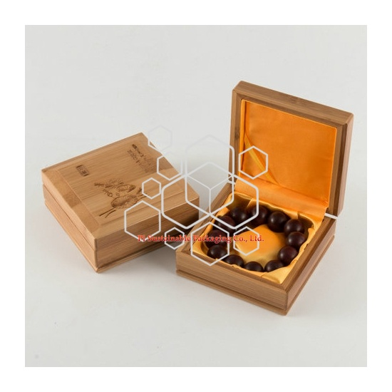 Bamboo wooden jewelry packaging boxes for men