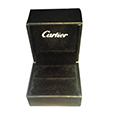 Bespoke leather ring jewellery display packaging gift boxes for Cartier