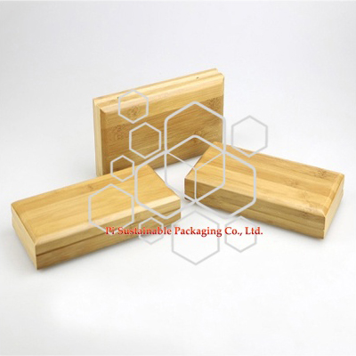 Eco friendly cosmetic packaging boxes custom made of bamboo